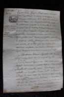 D-H / T2 /  Acte Notarié Sur Parchemin, Testament - Enregistré A Hirson Octobre 1806 - Manuscrits
