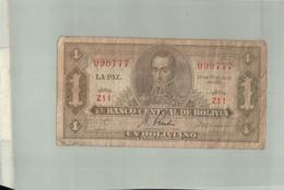 Billet De Banque  Bolivie Un Boliviano 1928    DEC 2019 Gerar - Bolivie