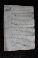 T3 /  Acte Notarié Sur Parchemin, De Vente - Enregistré A Hirson Octobre 1806 - Manoscritti
