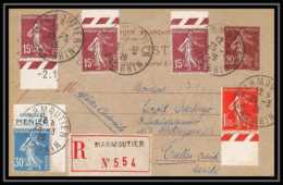 4817 Semeuse 20c Complement Affranchissement Composé 1926 Marmoutier Autriche Austria Carte Entier Stationery - Entiers Postaux