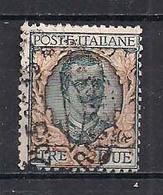 REGNO D'ITALIA 1923 TIPO DELLA SERIE FLOREALE VALORE IN LETTERE SASS. 150  USATO VF - Usati