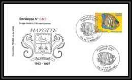 5219/ Pegase Tirage Numerote 56/300 Y&t 73 Poissons (Fish) Mayotte 1999 Fdc Premier Jour Lettre Cover - Briefe U. Dokumente