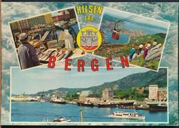 °°° 15402 - NORWAY - HILSEN FRA BERGEN - 1987 With Stamps °°° - Norvegia