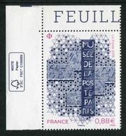 """TIMBRE** Gommé De 2019 En Coin De Feuille  """"0,88 € - MUSEE DE LA POSTE"""" - Frankrijk"""