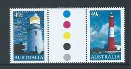 Australia 2002 Lighthouse 45c Gutter Pair MNH - 2000-09 Elizabeth II