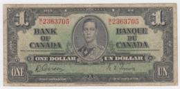 Canada 1 Dollar 1937 Gordon-Towers VG-F Pick 58d 58 D - Canada