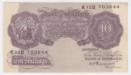 Great Britain 10 Shillings 1948 - 1949 VF Pick 368a 368 A - 10 Schillings