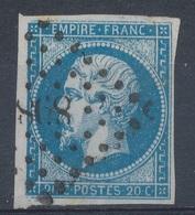 N°14  VARIETE MARQUER AU VERSO. - 1853-1860 Napoléon III
