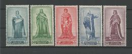 Belgium 1947 Medieval Kings  OCB 751/755 ** - Belgique
