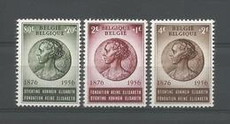 Belgium 1956 Queen Elisabeth 80th Birthday OCB 991/993 ** - Belgique