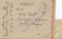 Zensur: Postverkehr Eingestellt Auf Feldpostbrief: Prüfstelle Wien - Allemagne