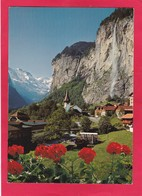 Modern Post Card Of Lauterbrunnen Mit Staubbachfall, Berne, Switzerland,L69. - BE Berne