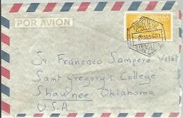 CARTA 1956  MATASELLOS CORREO AEREO  A USA FRANQUEO INTERESANTE - 1951-60 Briefe U. Dokumente