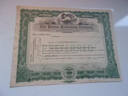 THE PENTON PUBLISHING COMPANY (USA) - Azioni & Titoli