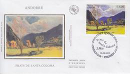 Enveloppe  FDC  1er  Jour  ANDORRE   Prats  De  SANTA  COLOMA   2005 - FDC