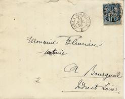 1885- Enveloppe Affr. 15 C Sage Oblit. Cad Ambulant PARIS A BORDEAUX 2° ( Grands 2 Et B  De Brigade ) - Marcophilie (Lettres)