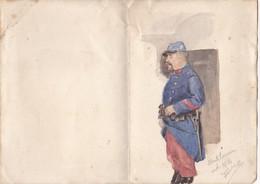 Guerre 14-18 - Portrait D'un Soldat Français - Octobre 1914 - Uniforme - Peinture - Dessin - WWI - 1914-18