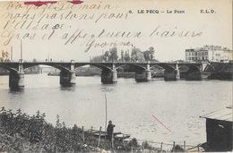Le Pecq (Seine-et-Oise) Le Pont Sur La Seine, Pêcheur - Carte E.L.D. N° 6 - Le Pecq