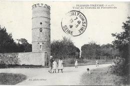 Le Plessis-Trévise (Seine-et-Oise) Tour Du Château De Pierrefords - Edition Six Photo, Carte C.M. - Le Plessis Trevise