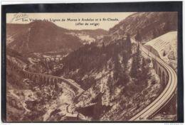 39107 . LES VIADUCS DES LIGNES DE MOREZ A ANDELOT ET A ST CLAUDE . EFFET DE NEIGE . CIRCULEE  1926 - France