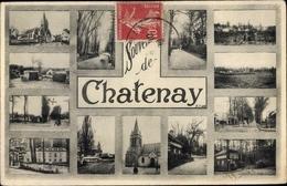 Cp Châtenay Malabry Hauts De Seine, Verschiedene Ansichten, Kirche, Straßenpartie - Francia