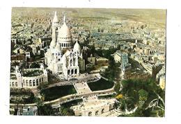 75----PARIS--la Basilique Du Sacré-coeur De Montmartre---en Avion Sur Paris---voir 2 Scans - Sacré Coeur