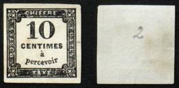 N° TAXE 2 10c Noir Neuf NSG TB Cote 60€ - Taxes