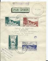 FRANCE-MAROC - Lettre Recommandée Au Depart De TAZA VILLE NOUVELLE  Pour PARIS - Marokko (1891-1956)