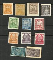 Russie N°144, 144B, 145 à 150, 151, 152, 165, 167 Neufs Avec Charnière* Cote 3.80 Euros - Unused Stamps