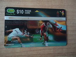 BRUNEI USED CARDS SPORTS BADMINON - Brunei