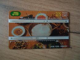 BRUNEI USED CARDS  20 LOCAL FOOD - Brunei