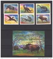 T 615  -  Kazakstan  -  1994  :  Yv  35-40  Bloc  2  **   Animaux Préhistoriques - Timbres