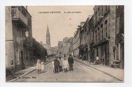 - CPA CAUMONT-L'ÉVENTÉ (14) - La Rue Principale (avec Personnages) - Edition H. Ermice - - Francia