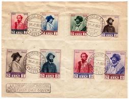 Fdc 100° RITIRATA GARIBALDINA DA SAN MARINO 1949 - FDC
