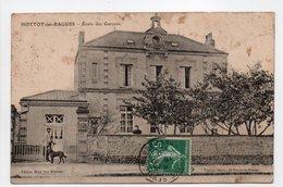 - CPA HOTTOT-LES-BAGUES (14) - École Des Garçons 1910 - Edition Mme Vve Monnier - - Francia