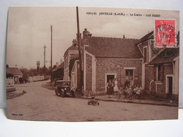 CPA 77 SEINE ET MARNE JONVILLE LE CENTRE CAFE BURET ANIMEE 605 - Frankrijk