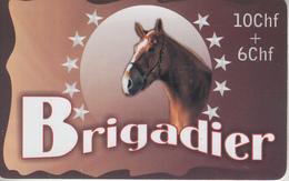 SWITZERLAND - PHONE CARD - TAXCARD ***   CHEVAL & BRIGADIER *** - Paarden