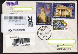 Rumänien 2013  R - Drucksache / Printed Matter/ Imprimés  In Die BRD  ; MiNr. 6740, 6742  900 Jahre Oradea/Großwardein - Cartas