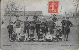 BEAUVAIS SUR MATHA : L'Equipe De Foot -Ball  En 1913 - Carte D'equipe Trés Rare - Francia