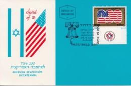 ISRAEL, 1976, Maxi-Card(s), American Revolution, SG634, F5225 - Tarjetas – Máxima
