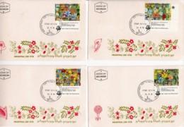 ISRAEL, 1978, Maxi-Card(s), Memorial Day - Flowers, SG705-719, F5252 - Tarjetas – Máxima