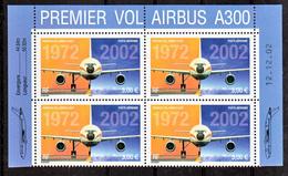 France PA  65a Airbus A 300 Bloc De 4 Coin Daté De Feuille De 10 Neuf ** TB MNH Sin Charnela - Aéreo
