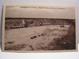 CPA 77 SEINE ET MARNE ORMESSON EXPLOITATION DE SILICE LES BRULIS MINE 622 - Frankrijk