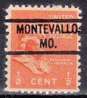USA Precancel Vorausentwertung Preo, Locals Missouri, Montevallo 804 - Vereinigte Staaten