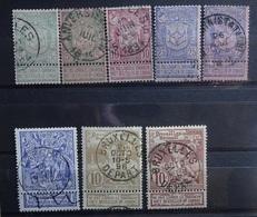 BELGIE   1894   Nr. 68 - 70 A / 71 - 73   (2)       Gestempeld   CW  20,00 - 1894-1896 Exhibitions