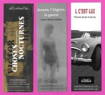 3 Marque Page éditions Le Vistemboir.     Bookmark. - Bladwijzers