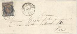 5 Janvier 1849-  Lettre De MOULINS-S-ALLIER ( Allier ) Cad T15  Sur N°3  ( 3 Marges  ) - Marcophilie (Lettres)