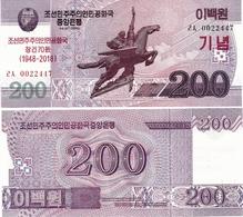NORTH KOREA     200 Won      Comm.       P-CSNew       J. 97 / 2008 (2018)        UNC - Corea Del Nord