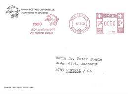 """Switzerland 1990 Bern UPU Postage Stamp Slogan Meter Hasler """"Mailmaster"""" 30054 Cover - UPU (Wereldpostunie)"""