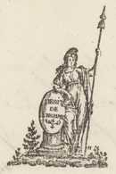 Héraldique Colmar An 2 - 22.8.1794 Signature Foussedoire Sujet De La Corresp.: Charles Deville Curé à Niederentzen - 1701-1800: Voorlopers XVIII
